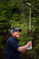 通算8アンダーで暫定首位の尾崎将司 つるやオープンゴルフトーナメント(2013)(2日目)