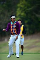 「パッティングをもうちょっと調整したい」と話す松山英樹 つるやオープンゴルフトーナメント(2013)(2日目)