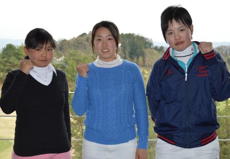 本戦出場を果たした青野さん、立浦さん、佐々木さん(左から)