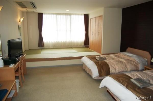 クラブハウス2階に併設された宿泊施設の部屋は、2015 年にリニューアル