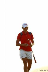 ステーシーー・ルイス リオ五輪ゴルフ競技女子(2016)(3日目)写真・村上航