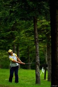 森田理香子 日本女子プロゴルフ選手権大会コニカミノルタ杯(2016)(1日目) 写真・村上航