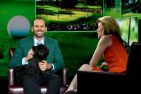 """ガルシアはグリーンジャケットを着て""""勝利の女神""""とともに数々のテレビ出演をこなした 写真・Getty Images"""