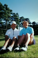 高校生で優勝した翌週の日本女子オープンで、仲良しの横峯さくらとの対談が実現。二人のあどけない笑顔が印象的だ