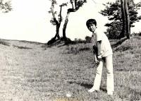 初ラウンドした小学3年生のころ。まだ遊びでゴルフをしていた時期だ