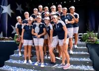 米国チーム、全員で勝利の喜びを分かち合う ソルハイムカップ(2017)(最終日) 写真・Getty Images