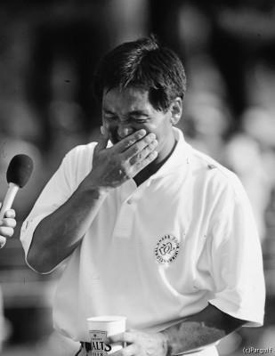2000年のサントリーオープンで、40歳にしてツアー初優勝。思わず涙が込み上げてきた
