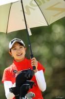 単独首位で最終日へ 日本人プロ転向後最速Vタイ記録なるか アクサレディスゴルフトーナメント in MIYAZAKI(2018)(2日目) 写真・村上航