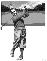 ゴルフは「右脳と左脳の闘い」でもある。耳と耳の間の「5インチのコース」を相手に、自分をどうコントロールするかの重要性をボビー・ジョーンズは教えてくれた。