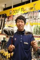 お勧めのクラブを教えてくれた一人、ゴルフパートナー銀座ナイン店の藤川清幸店長