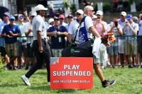 第2ラウンドは荒天のためサスペンデッドに 全米プロゴルフ選手権(2018)(2日目) 写真・岩本芳弘